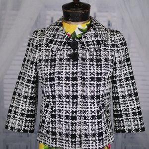 Gorgeous Nordstrom Black/White Sematiks Jacket